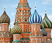 Famous Head of St. Basil's Cathedral on Red square, Moscow, Russ — Foto de Stock