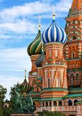 En ünlü katedrali, kızıl meydanı moskova — Stok fotoğraf