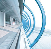 未来的なスタイルで視点空港インテリア — ストック写真