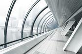 Business black hallway — Stock Photo