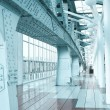 Glazed corridor in office center - Stock Photo