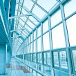 Glassy corridor in office center — Stock Photo