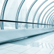 Stock Photo: Glassy corridor in office center