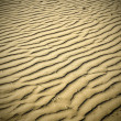 Evening puckered texture of sand desert — Stock Photo