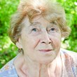Stock Photo: Portrait of a happy senior woman in the garden
