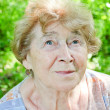 Stock Photo: Portrait of happy senior womin garden