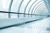 Glassy corridor in office center — Stock Photo