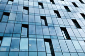 Glass pane of downtown property in futuristic modern style — Стоковое фото