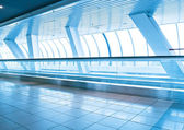 Beautiful business gangway inside contemporary architectural air — Stock Photo