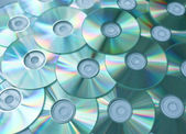 Empty compact discs — Stock Photo