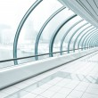 Metro station, blue glass corridor — Stock Photo