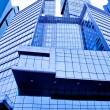 Light blue texture of glass high-rise building — Stock Photo
