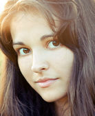 Portrait of beautiful cute young girl — Stock Photo