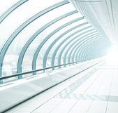 Light blue transparent hallway — Stock Photo