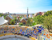 BARCELONA, SPAIN - JULY 25: The famous Park Guell on July 25, 20 — Stock Photo