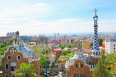 BARCELONA, SPAIN - JULY 25: The famous Park Guell on July 25, 2011 in Barcelona, Spain. Park Guell is the famous park designed by Antoni Gaudi and built in the years 1900 to 1914 — Stock Photo