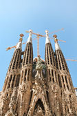 "BARCELONA SPAIN - JULY 25: ""La Sagrada Familia"", the unrealistic — Stock Photo"
