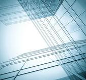 Sfondo di affari da grattacieli contemporanee costruzione — Foto Stock