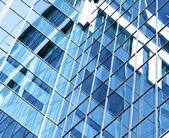 Contemporary design of glass skyscrapers, business background — Foto Stock