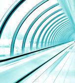 Verglasten korridor im office center — Stockfoto