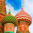 Stock Photo: Cupolas of Saint Basil's Cathedral on Red square, Moscow, Russia