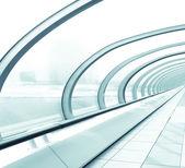Detalhes do interior contemporâneo aeroporto — Foto Stock