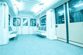 Subway inside — Stock Photo