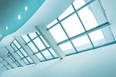 Contemporary glass roof — Stock Photo