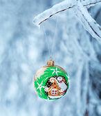 Weihnachten grüne kugel — Stockfoto