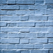 Painted dark blue wall of brick — Stock Photo
