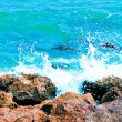 Splash of turquoise waves — Stock Photo