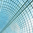 Textured blue ceiling inside airport — Stock Photo #25218283