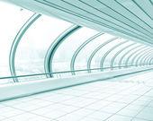 Blue hallway — Stok fotoğraf
