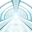 Corridor in airport walkway — Stock Photo