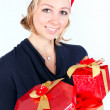 Girl with christmas presents — Stock Photo #25237337