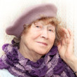Elderly happy woman — Stock Photo