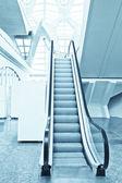 Fast moving escalator — Stock Photo