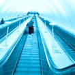 Fast escalator — Stock Photo