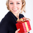 Girl with christmas presents — Stock Photo #25299323