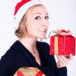 Girl with christmas presents — Stock Photo #25299947