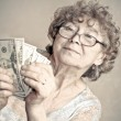 Woman with money — Stock Photo #25301485