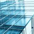 Transparent glass wall — Stock Photo