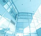 Contemporary spacious airport — Stock Photo