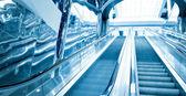 Escalator in business center — Stock Photo