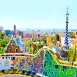 BARCELONA, SPAIN - JULY 25: The famous Park Guell — Foto de Stock