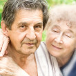 Stock Photo: Elderly hugging