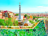 BARCELONA, SPAIN - JULY 25: The famous Park Guell — Stock Photo