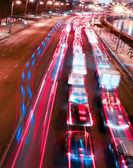 Beautiful night city in motion — Stock Photo
