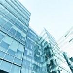 Exterior of modern glass business center — Stock Photo #25350747