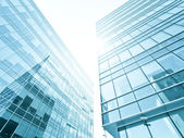 Sunny high successful business centers — Stock Photo